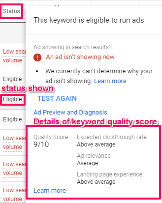 How to check quality score- final step