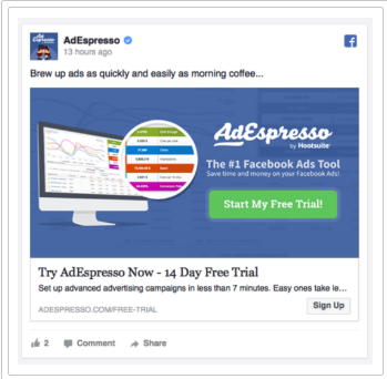 Types of Facebook ads- Domain ad