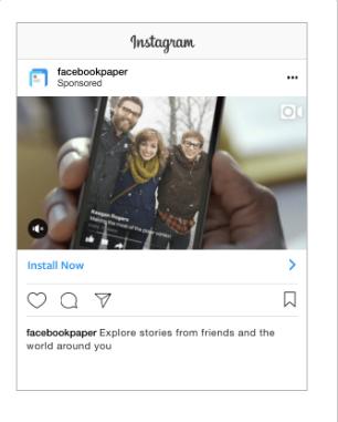 Types of Facebook ads-Instagram App install Ad