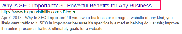 SEO best practices- Long title example
