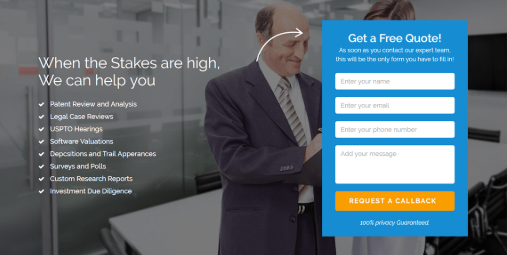 Good landing page with CTA