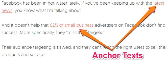 SEO audit Checklist-Anchor text