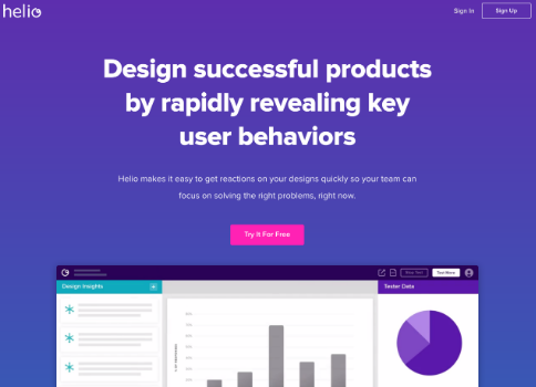 Helio home page