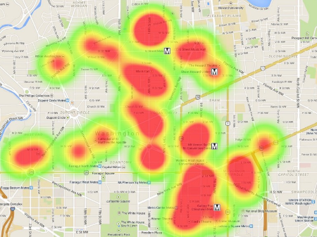 Heat map view