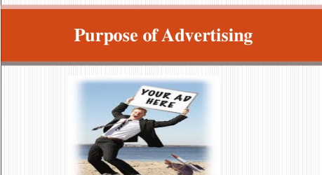 Purpose of advertising