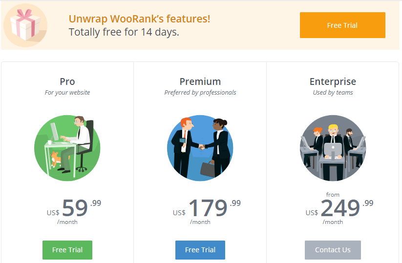 Woorank- Plans and pricing