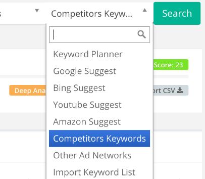 Competitors keyword