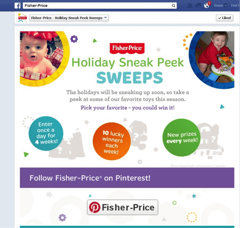 fisher price contest