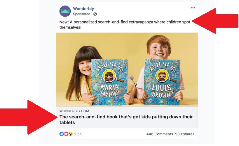wonderly facebook ad